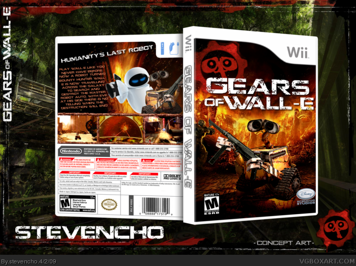 Gears Of Wall E Wii Box Art Cover By Stevencho
