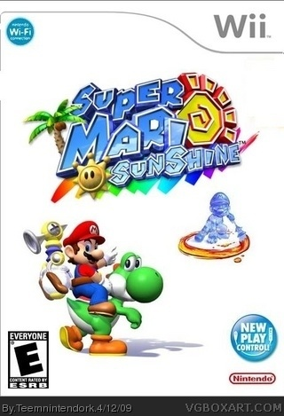 Super Mario Sunshine Wii Box Art Cover By Teemnintendork