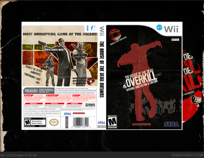 The House Of The Dead Overkill Wii Box Art Cover By Legoslayer