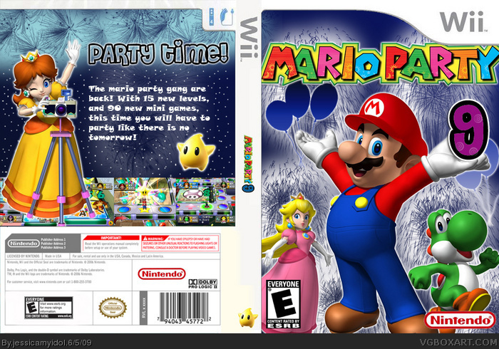 Mario Party 9 Wii Box Art Cover by jessicamyidol
