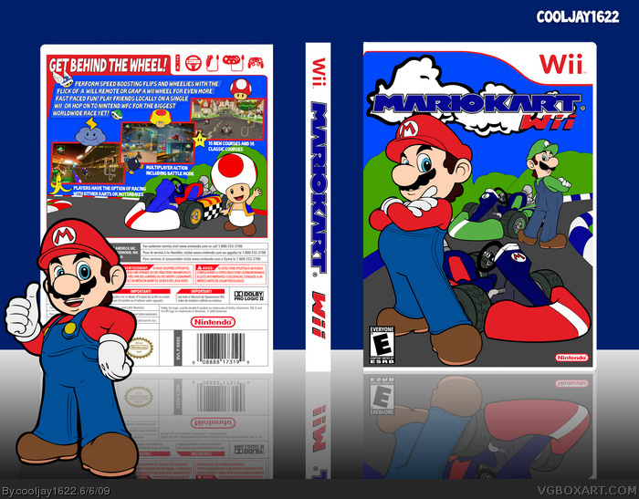 Mario Kart Wii Wii Box Art Cover By Cooljay1622