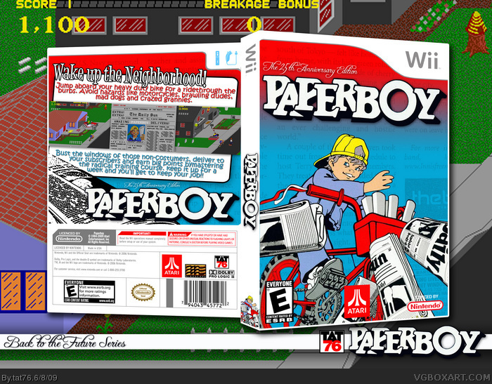 Paperboy Wii Box Art Cover by tat76