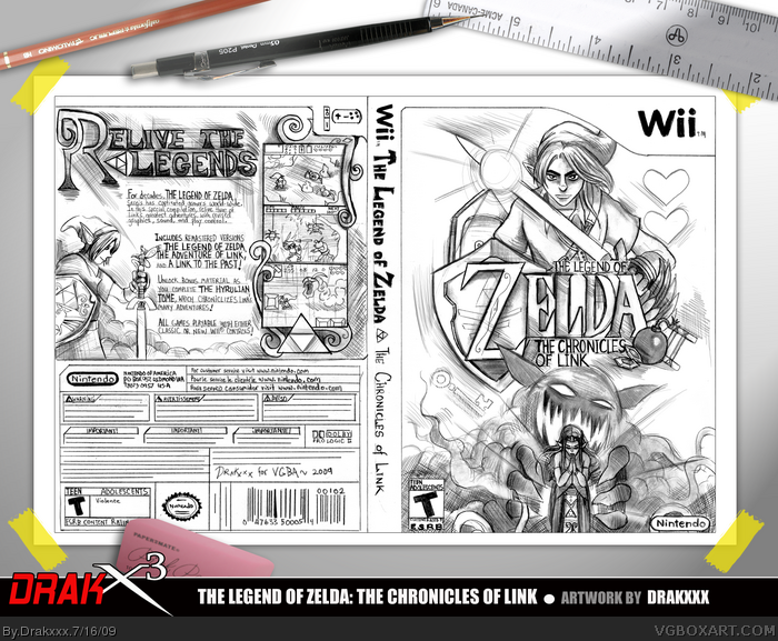 The Legend of Zelda: The Chronicles of Link box art cover