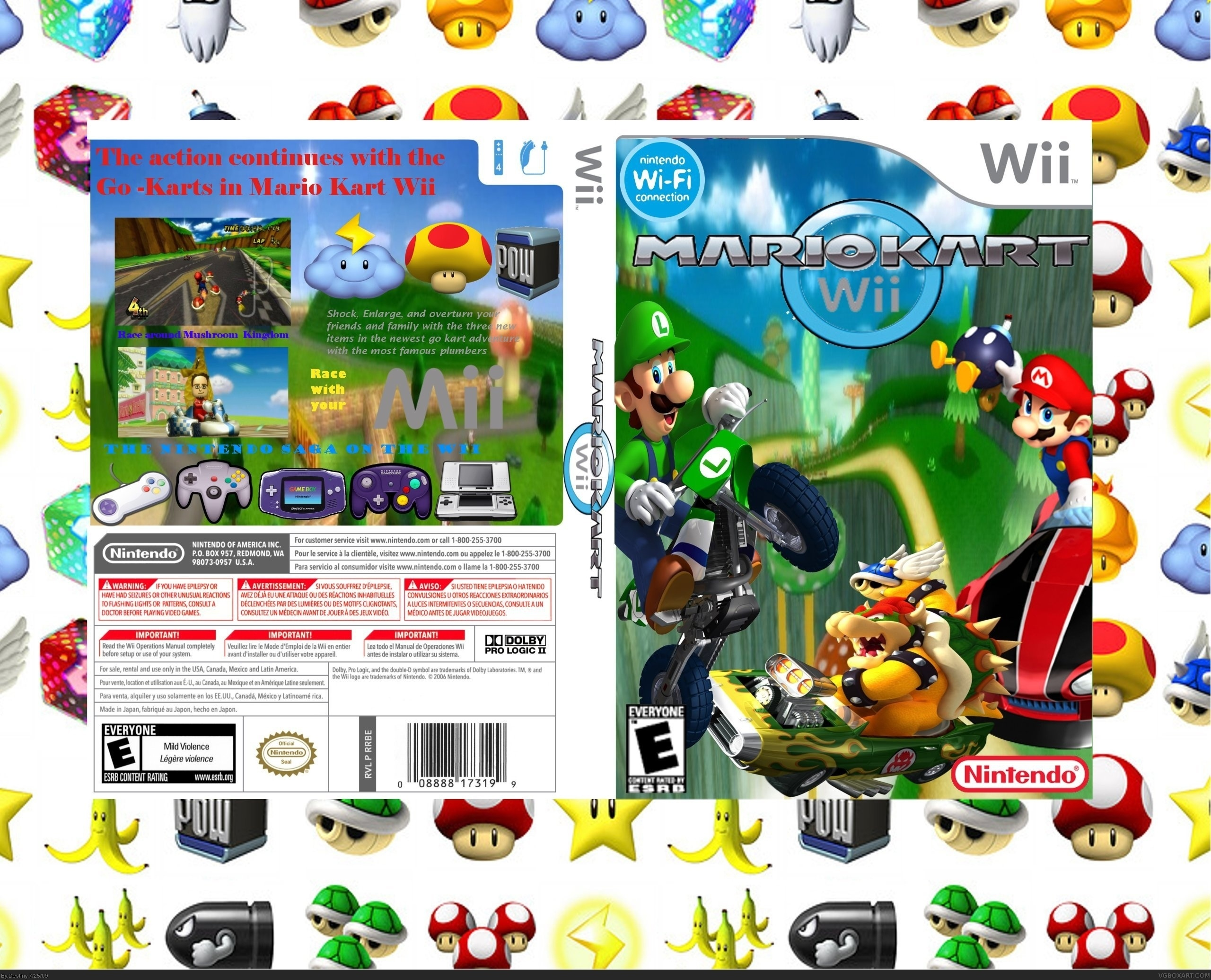 Mario Kart Wii Wii Box Art Cover By Destiny