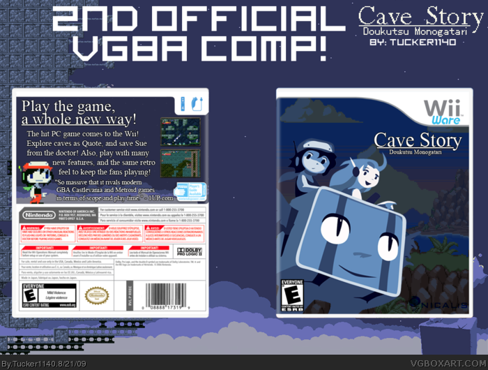 Cave Story box art cover