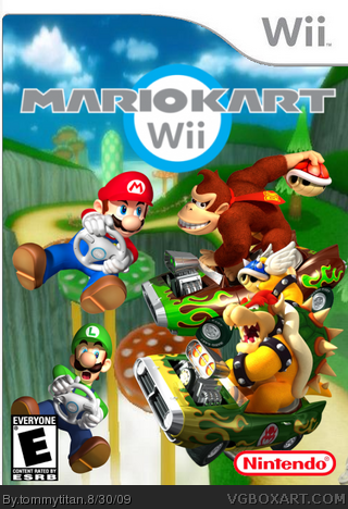 mario kart wii wii box art cover by tommytitan. Black Bedroom Furniture Sets. Home Design Ideas