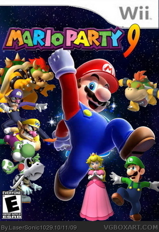 Mario Party 9 Wii Box Art Cover By Lasersonic1029