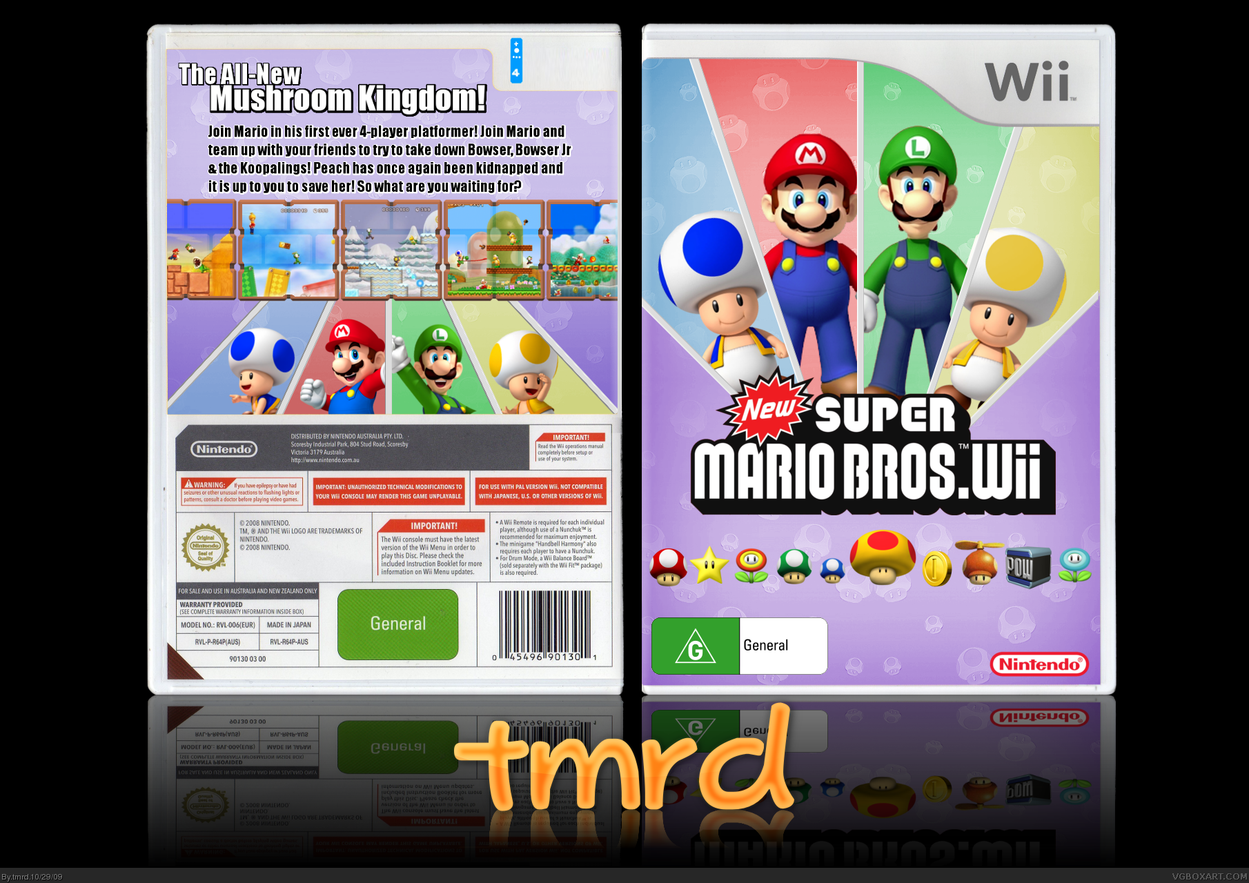 New Super Mario Bros Wii Wii Box Art Cover By Tmrd