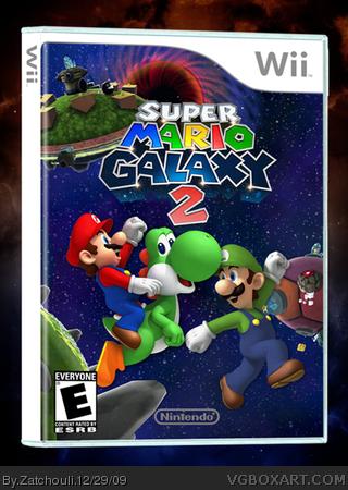 Super Mario Galaxy 2 Wii Box Art Cover By Zatchouli