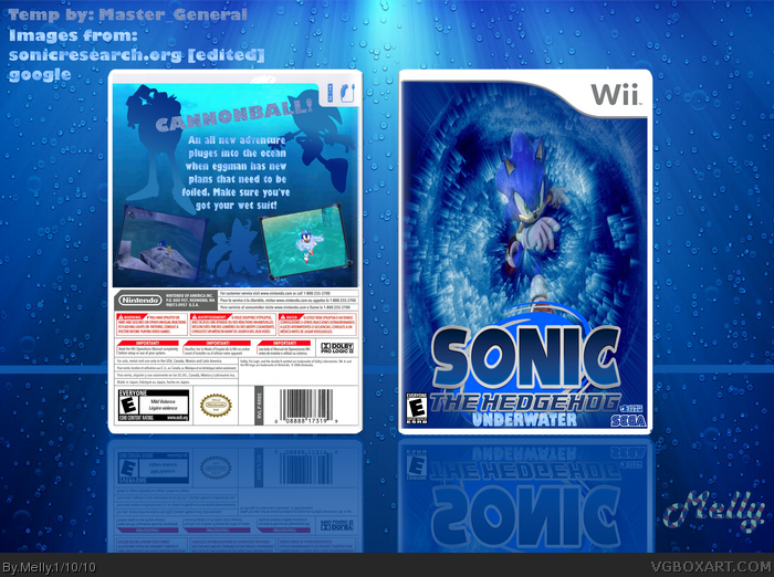 Sonic The Hedgehog Underwater Wii Box Art Cover By Melly