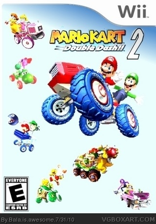 Mario Kart Double Dash 2 Wii Box Art Cover By Bala Is