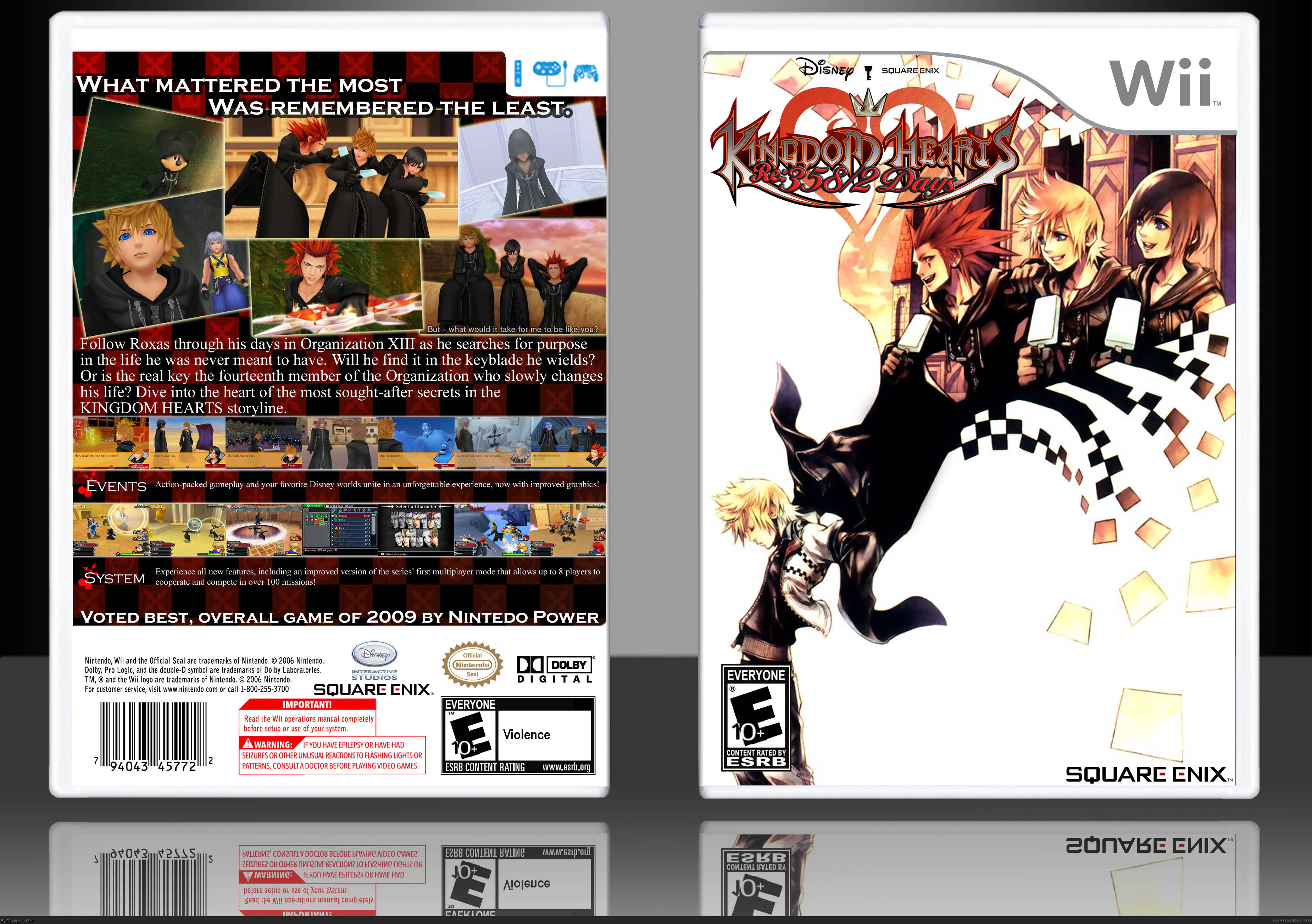 Kingdom Hearts Re 358 2 Days Wii Box Art Cover By Dtwagz