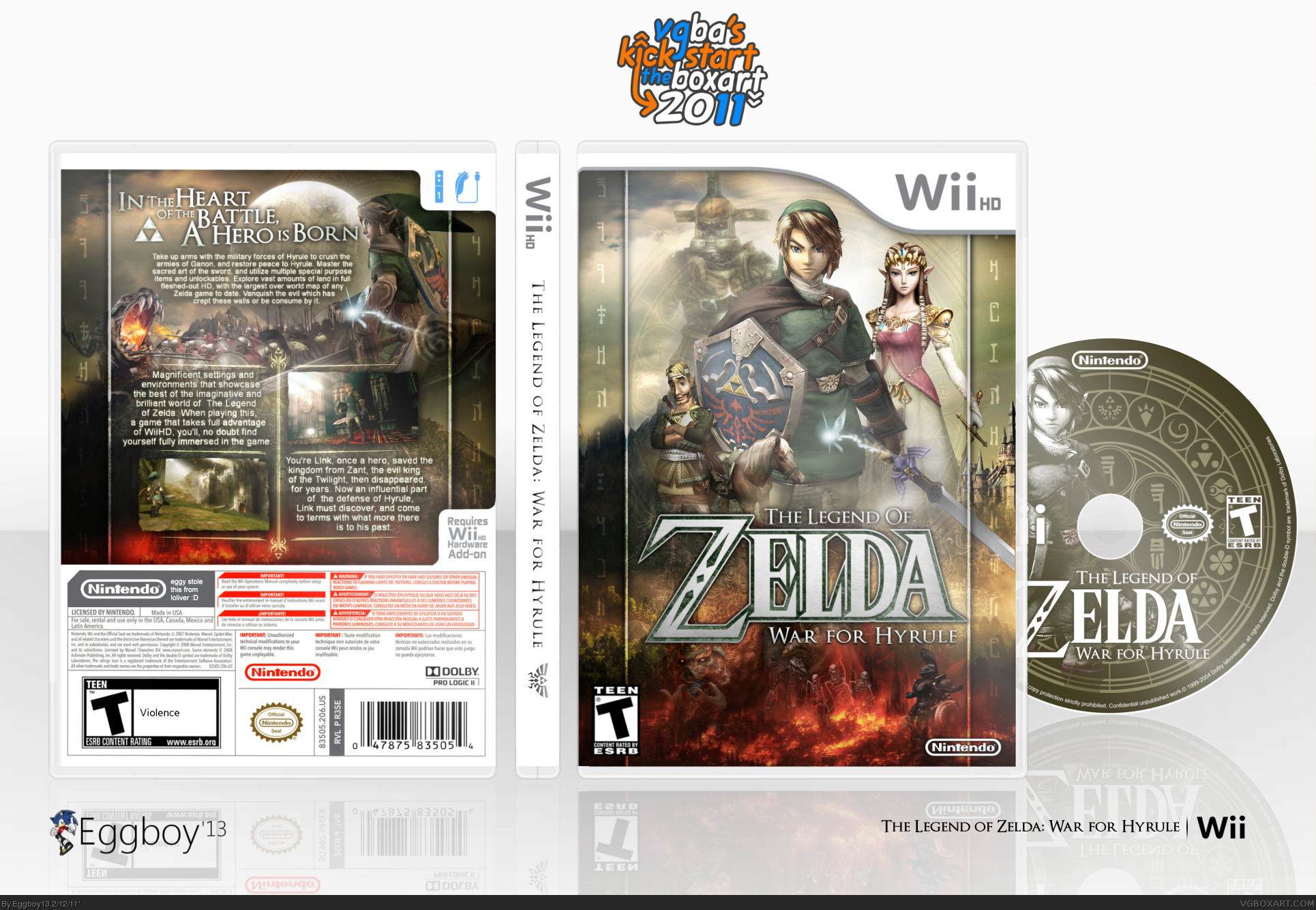 The Legend of Zelda: War for Hyrule box cover