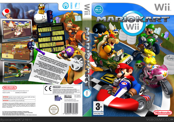 photo about Printable Video Game Covers named Mario Kart Wii Wii Box Artwork Protect by means of cocacola287
