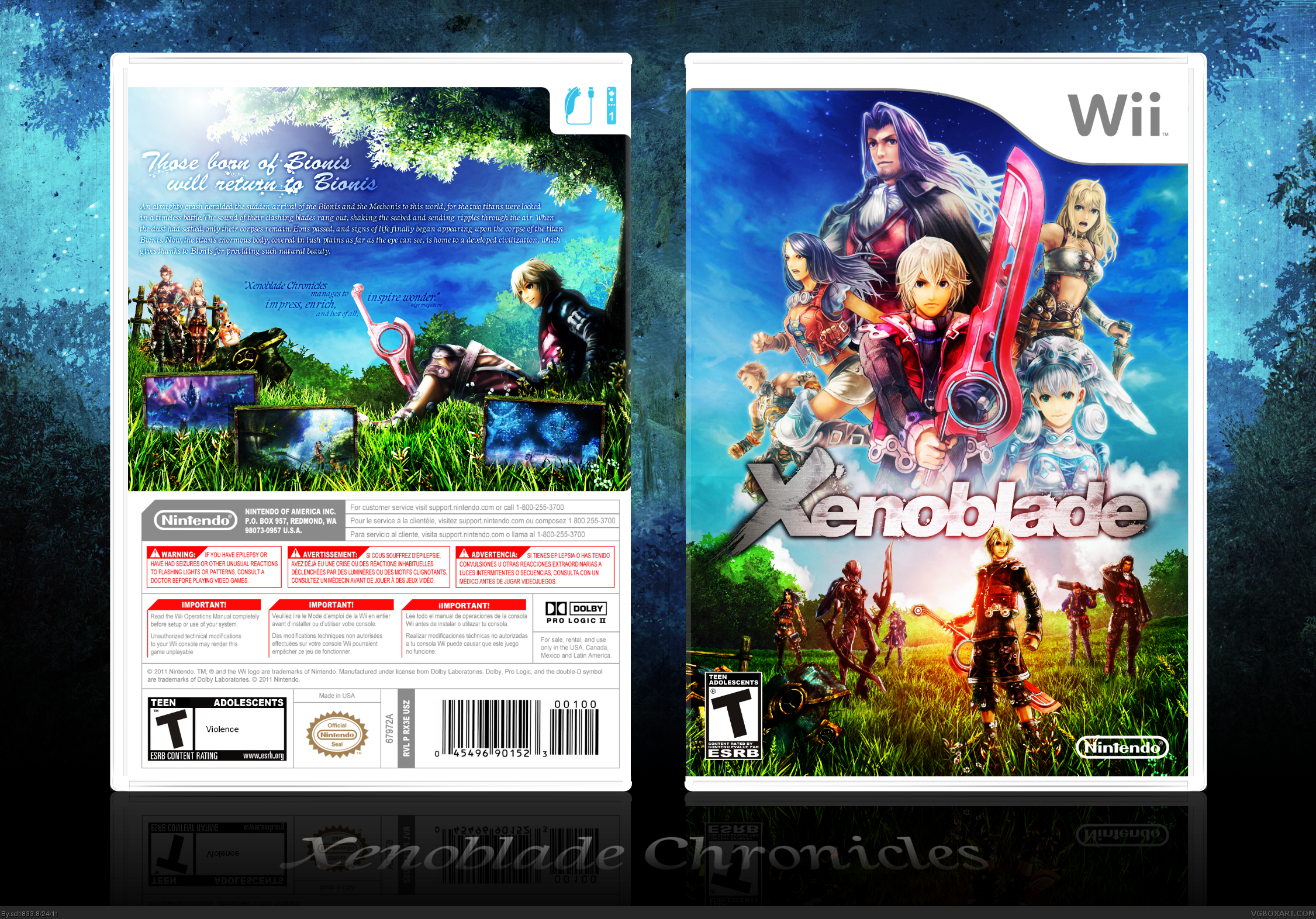 Xenoblade box cover
