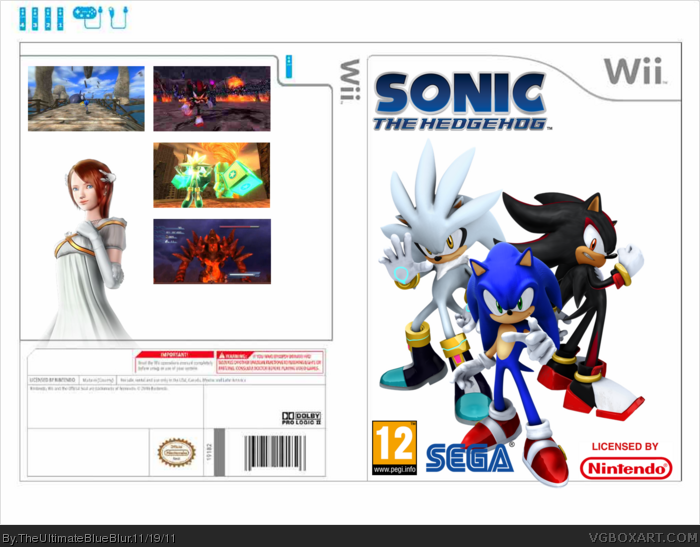 Sonic The Hedgehog 2006 Wii Box Art Cover By Theultimateblueblur