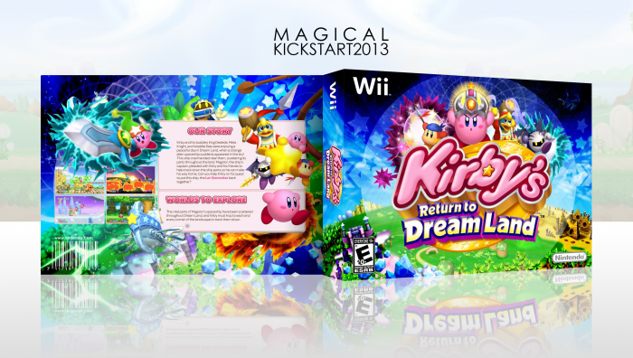 Kirby S Return To Dream Land Wii Box Art Cover By Magical