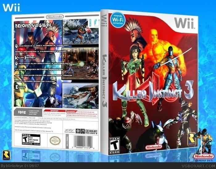 Killer Instinct 3 Wii Box Art Cover By Blinkofeye