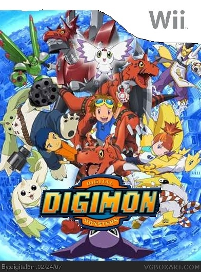 Digimon Digital Monsters Wii Box Art Cover By Digital6m