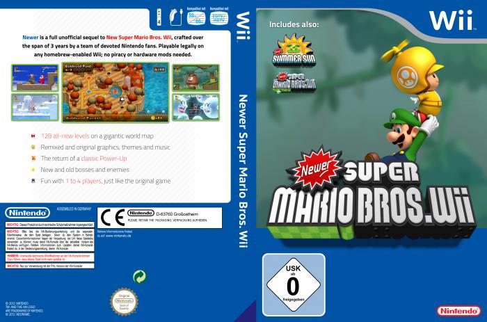 Newer Super Mario Bros Wii Wii Box Art Cover By Mircojanisch