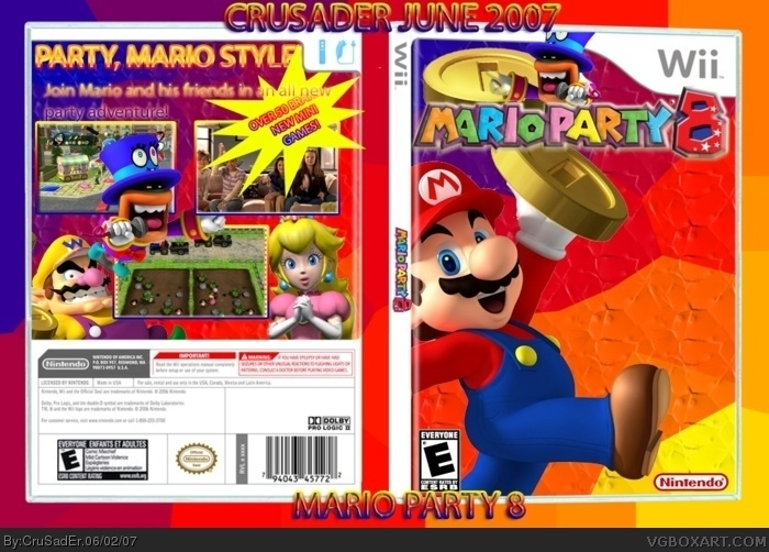 mario party 8 wii box art cover by crusader. Black Bedroom Furniture Sets. Home Design Ideas