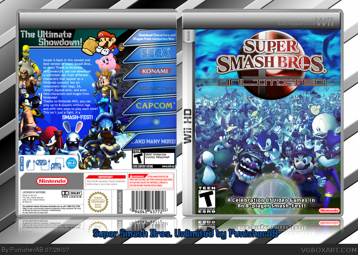 Super Smash Bros. Unlimited (Wii HD) box art cover