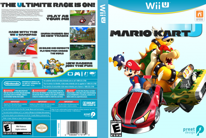 Mario Kart U Wii U Box Art Cover By Redhead2j