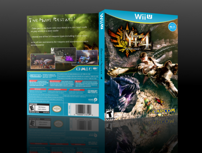 monster hunter 4 wii u box art cover