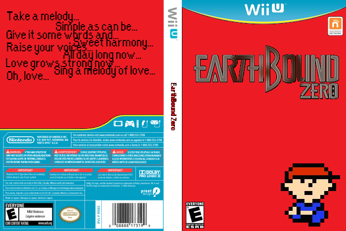 EarthBound Zero Wii U Box Art Cover by HerohomShulk