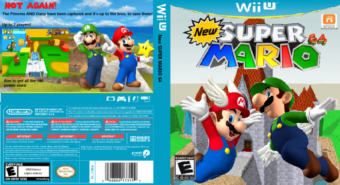 NEW Super Mario 64 Wii U Box Art Cover by MarioBrosFan123