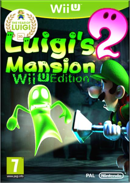 Luigi S Mansion 2 Wii U Edition Wii U Box Art Cover By