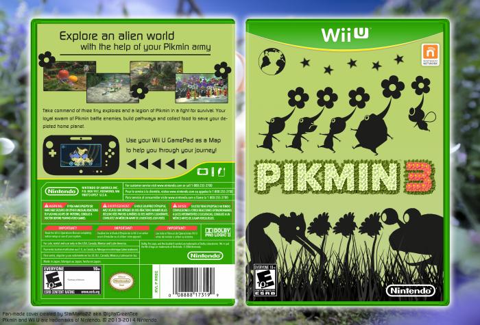Pikmin 3 Wii U Box Art Cover By Starmario22