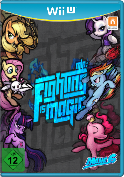 My Little Pony Fighting Is Magic Wii U Box Art Cover By Aristo