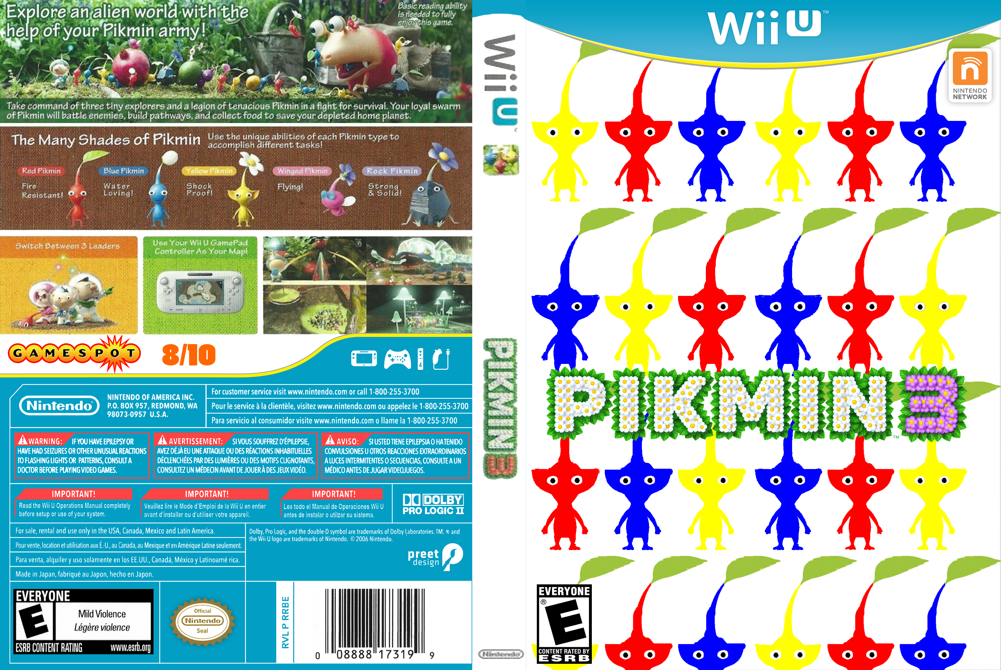 Pikmin 3 Wii U Box Art Cover By Hyperboy Prime