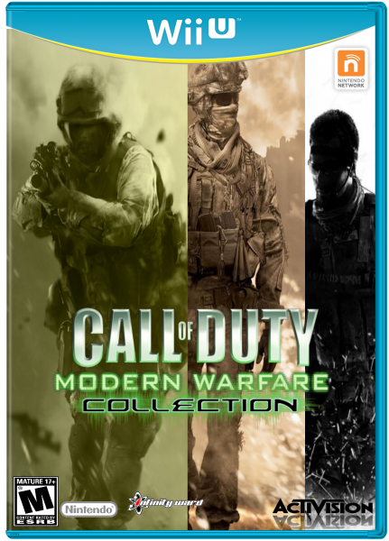 Call Of Duty Modern Warfare Collection Wii U Box Art Cover By