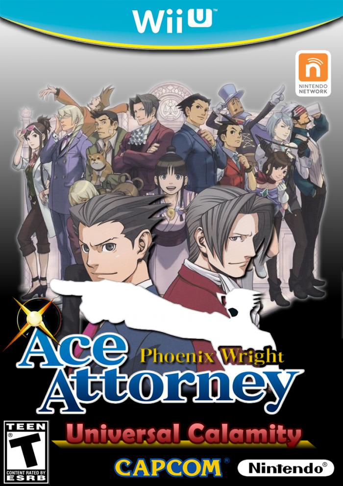 Phoenix Wright: Ace Attorney Wii U Box Art Cover by CEObrainz
