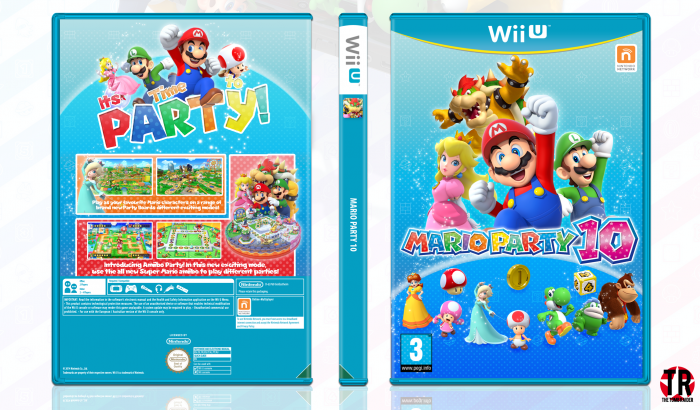 Mario party 10 wii u box art cover by thetombraider