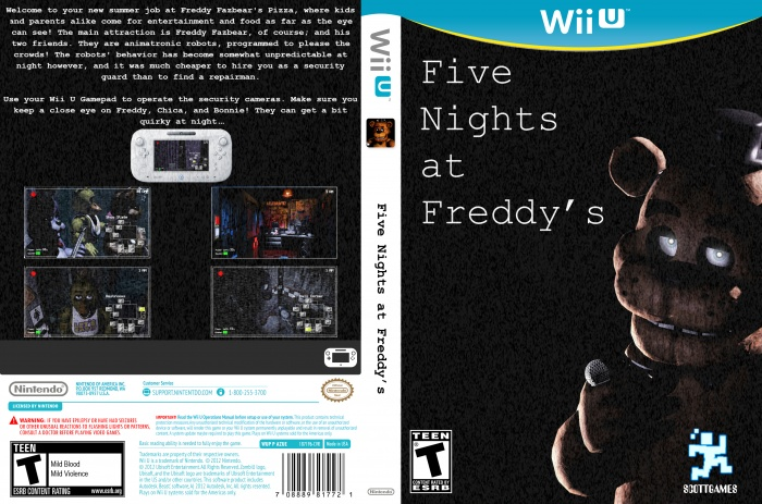 Epic Dvd Front Cover Five Nights at Freddy'...
