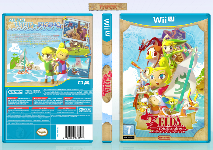 Legend of Zelda : The Wind Waker Wii U Box Art Cover by Paper on