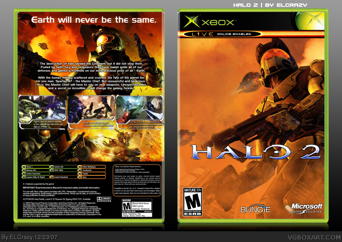 Halo 2 Xbox Box Art Cover By Elcrazy