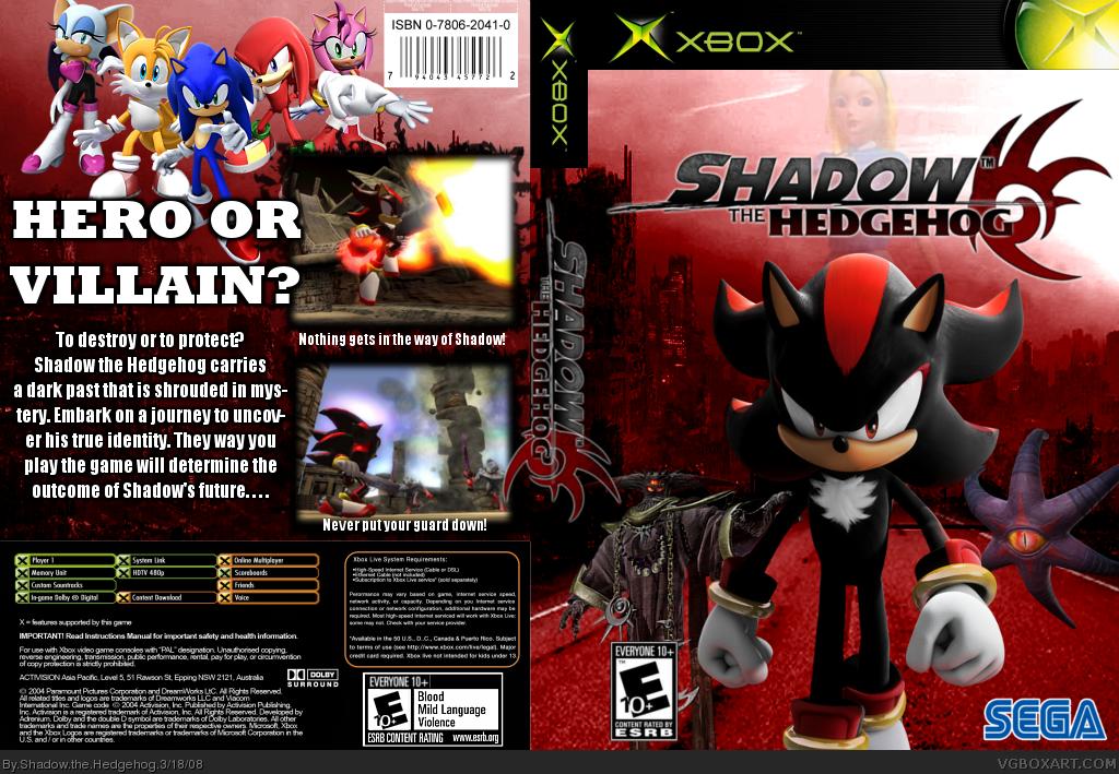 Shadow the Hedgehog Xbox Box Art Cover by Shadow the Hedgehog Xbox 360 Game Covers Download