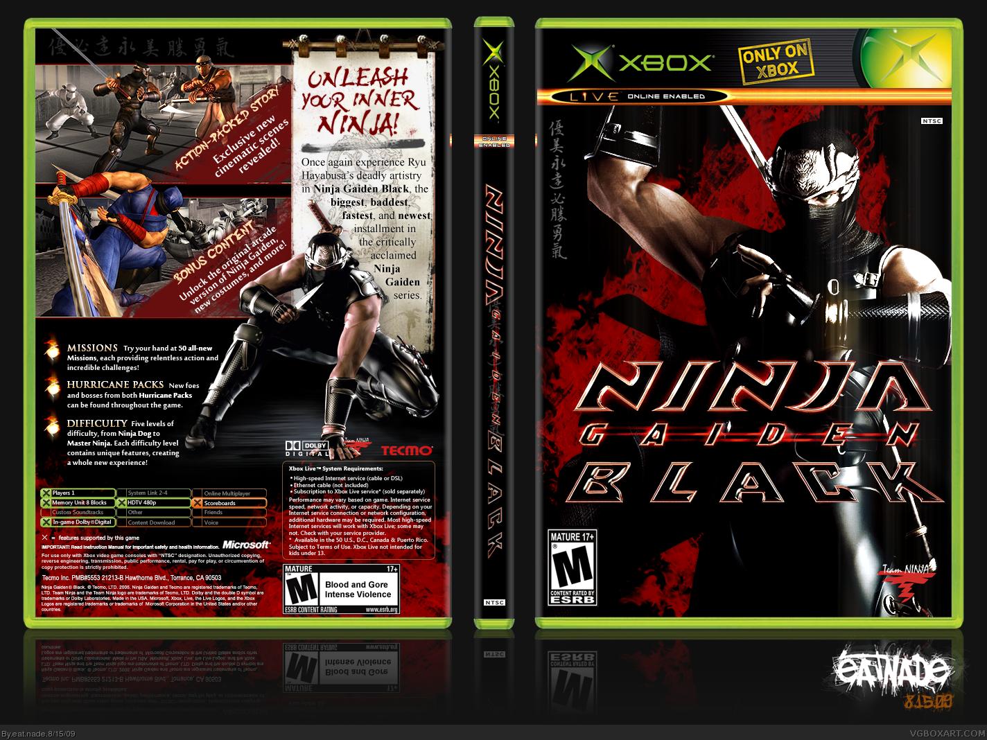 Ninja Gaiden Black Xbox Box Art Cover By Eat Nade