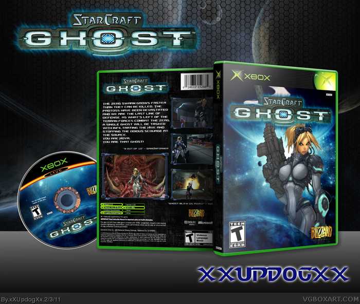 Starcraft: Ghost Xbox Box Art Cover by xXUpdogXx