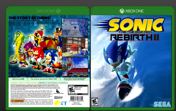 Sonic Rebirth 2 Xbox One Box Art Cover By Spookz