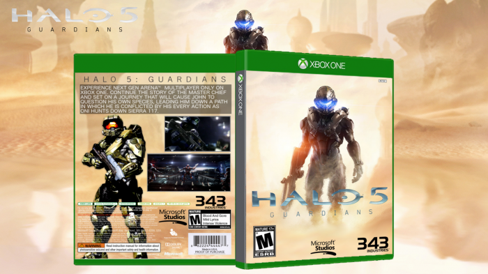 Halo 5 Guardians Cover Halo 5 Guardians Box Art