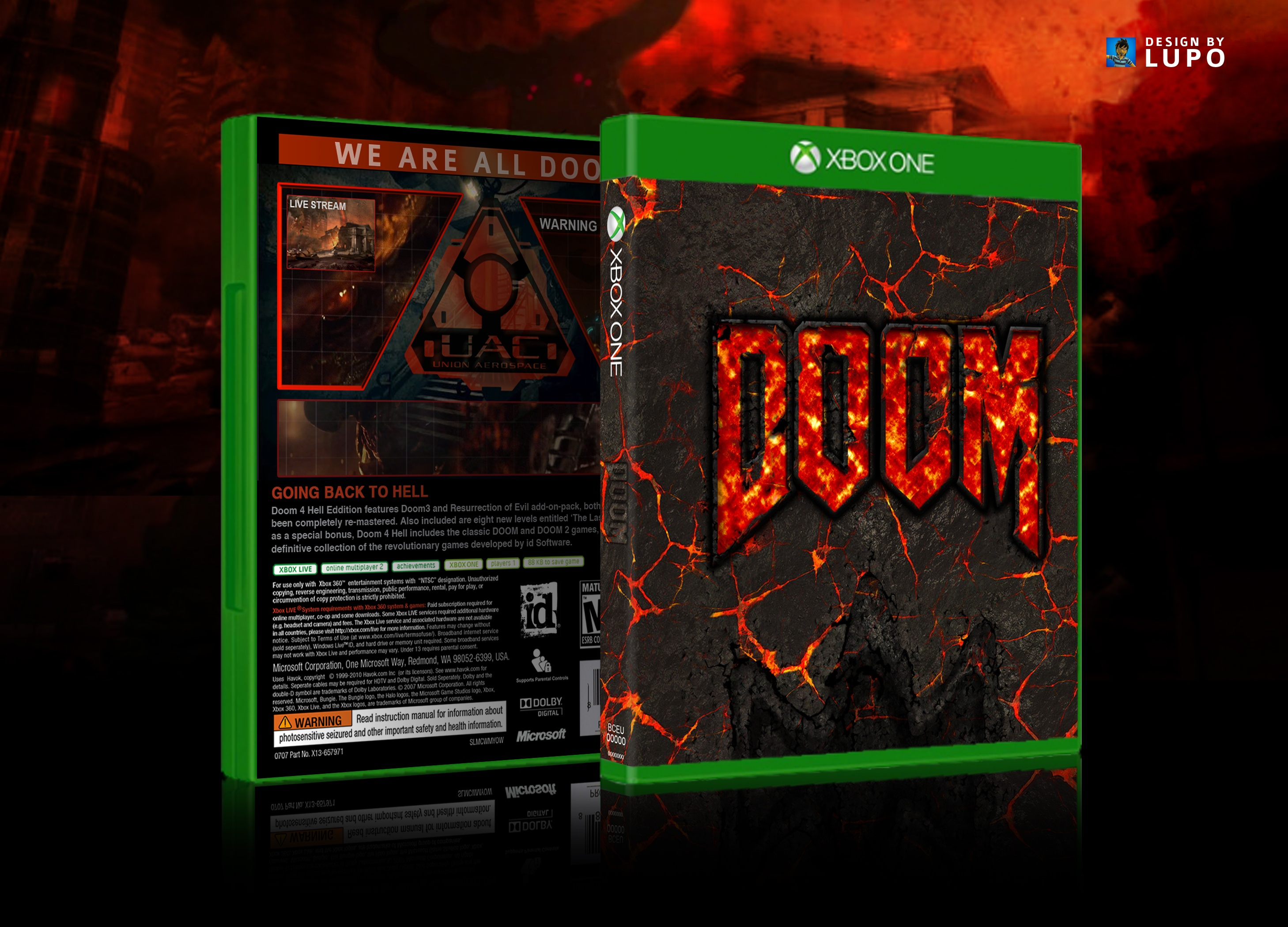 Doom 4 Xbox One Box Art Cover By Lupo