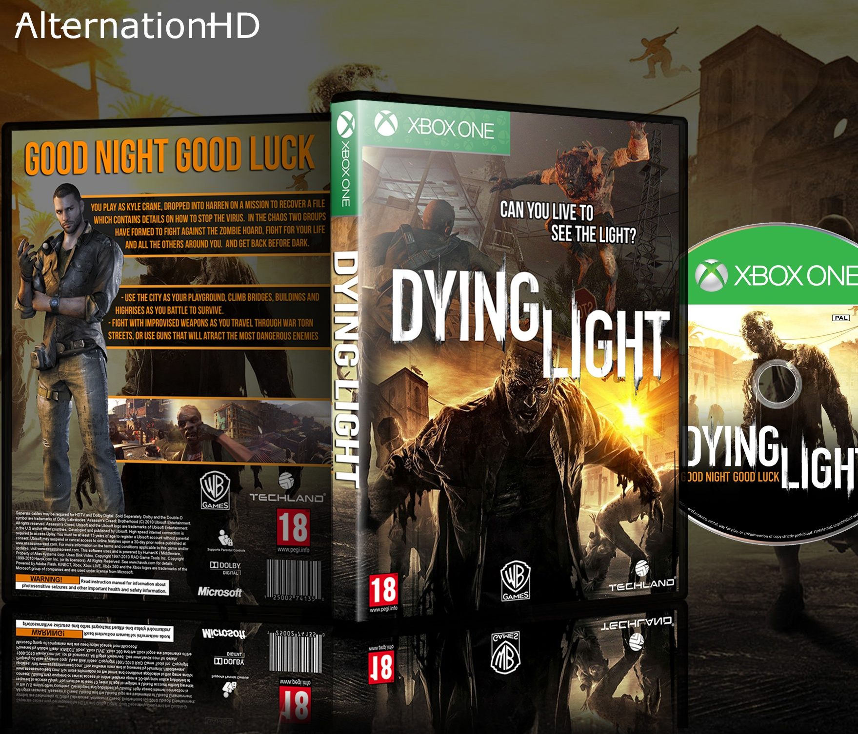 dying light xbox one box art cover by alternationhd
