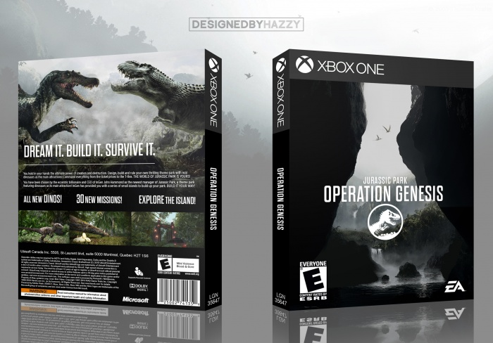 Jurassic Park Operation Genesis Xbox One Box Art Cover By Hazzy25