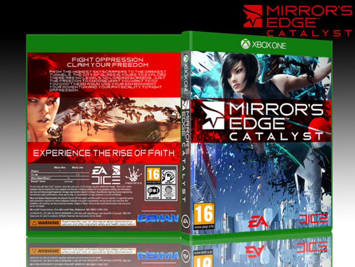 Mirror 39 s edge catalyst xbox one box art cover by iceman423626 for Mirror xbox one to pc