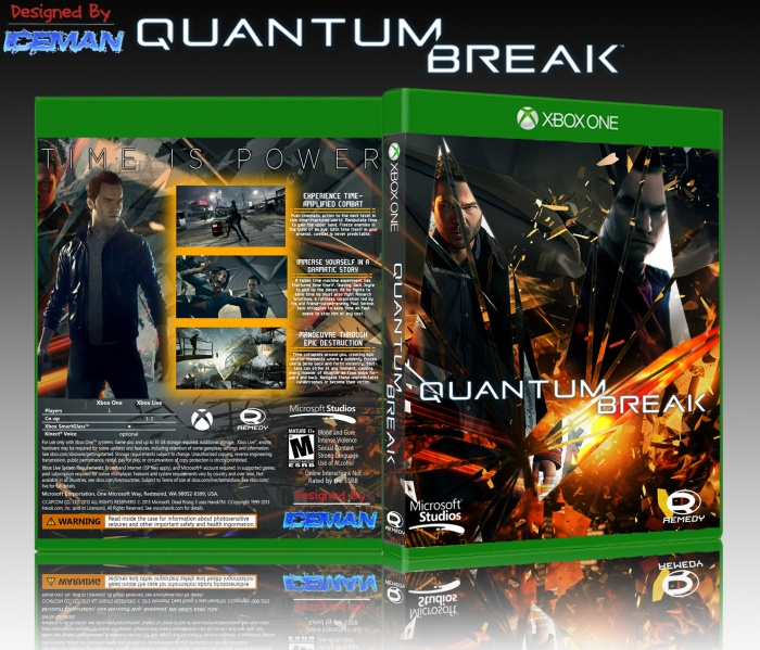 Book Cover Architecture Xbox One : Quantum break xbox one box art cover by iceman